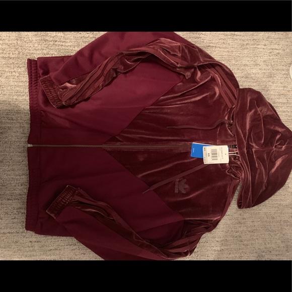 adidas Jackets & Blazers - NWT adidas velvet jacket(MATCHING pant on my page)